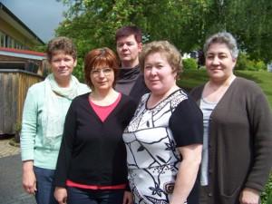 Unsere Reinigungskräfte: Nina Leichner, Anna Bock, Silvia Rieck, Luba Oswald, Katharina Meier